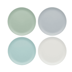 KitchenCraft Set of Four Melamine Snack Plates