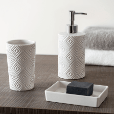 Linen House Three Piece Bathroom Accessory Set