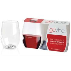 Govino Plastic Red Wine Picnic Glasses, Set of 2