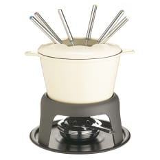 MasterClass Cast Iron Enamelled Fondue Set, 1.2 Litre