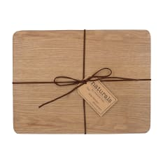 Creative Tops Naturals Rectangular Oak Veneer Placemats, Set of 4