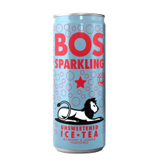 BOS Sparkling Unsweetened Fruit & Botanical Tea, Pack of 6