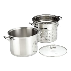 Kuchenprofi Stainless Steel Pasta Pot with Sieve, 24cm