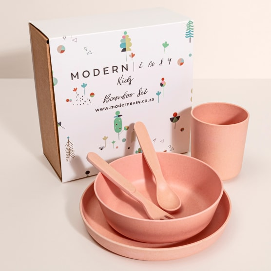 Modern Easy Bamboo Kids Dinner Set 5 Piece - Yuppiechef