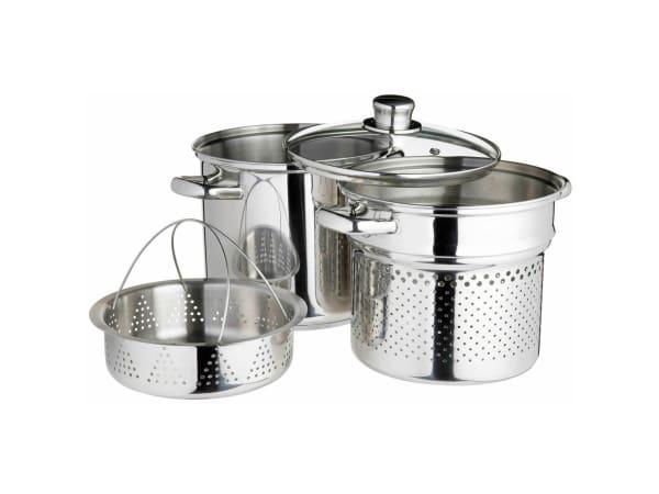 Kitchencraft World Of Flavours Italian Stainless Steel Pasta Pot Set