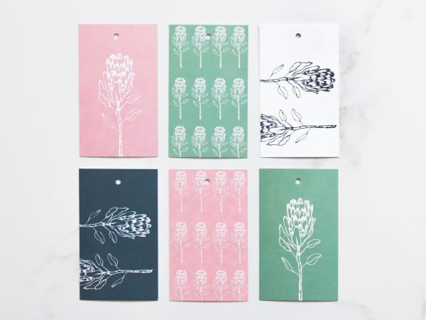 Yuppiechef greeting cards illustrated protea gift tags set of 6 videos m4hsunfo