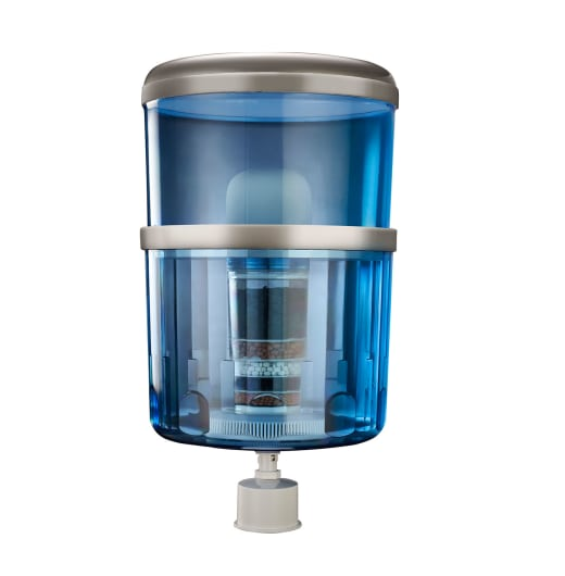 replacement water cooler bottle with 8 stage kdf water filter system