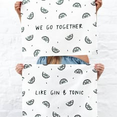 Zana Gin & Tonic Tea Towels, Set of 2