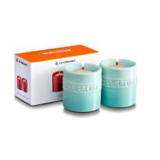 Le Creuset Stoneware Tea Light Candle Holders, Set of 2