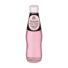 Fitch & Leedes Pink Tonic Bottles, Pack of 4