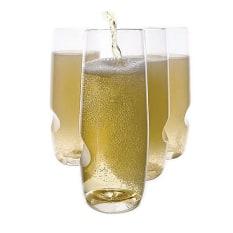 Govino Plastic Picnic Champagne Glasses, Set of 4
