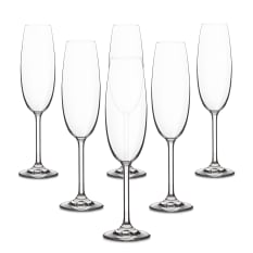 Bohemia Crystal Bistro Champagne Flutes, Set of 6