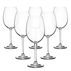 Bohemia Crystal Bistro Red Wine Glasses, Set of 6
