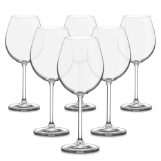 Bohemia Crystal Bistro Burgundy Glasses, Set of 6