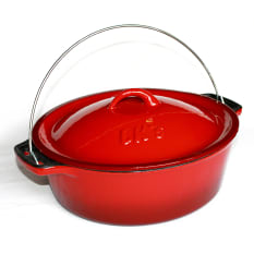 LKs Potjies Enamel Size 12 Braai Bake Pot, 5 Litre