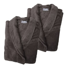 Linen House His & Hers Fleece Bathrobes