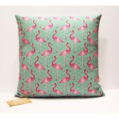 Handmade by me Pink Flamingo Cushion Cover, 50cm x 50cm
