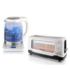 Taurus Vidre Glass Kettle & 2 Slice Toaster Set