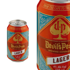 League of Beers Devil's Peak Brewing Company Lager Can