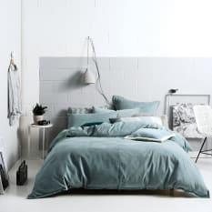Linen House Willow Stone Blue Duvet Cover Set