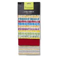 Cooksmart Seville Tea Towel, Set of 3