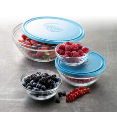 Duralex Lys Carre Stackable Round Bowl with Lid