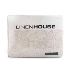 Linen House Sharol Moonbeam Embroidered Cotton Quilt