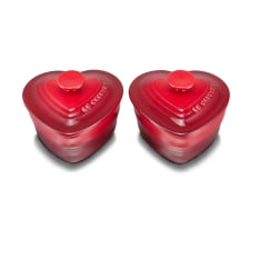 Le Creuset Heart Ramekins with Lids, Set of 2