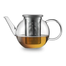Jenaer Glass Good Mood Single Serve Teapot with Stainless Steel Strainer
