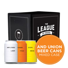 League of Beers AND UNION Mixed Case of Beer Cans