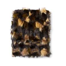 Hertex HAUS Hunter Trogon Faux Fur Throw