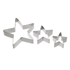 Kitchen Craft Christmas Star Cookie Cutter Set, Set of 3
