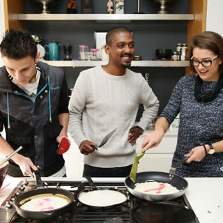 The Yuppiechef team making pancakes