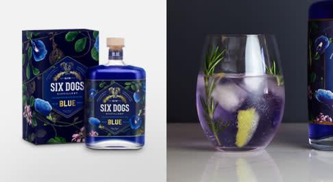 Six Dogs Distillery Blue Gin