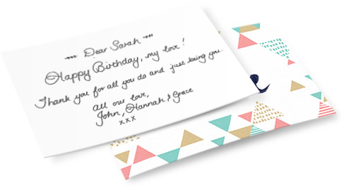 Yuppiechef handwritten cards