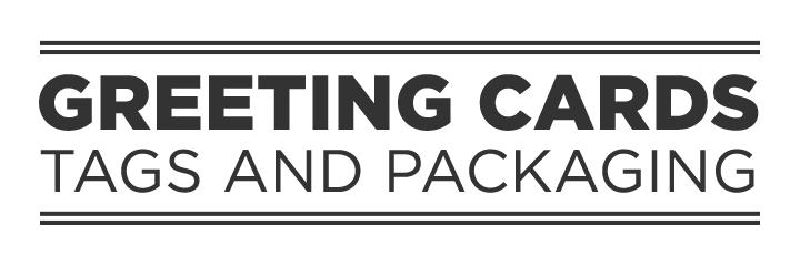 Greeting cards and packaging logo