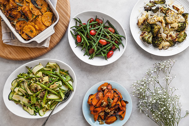 Christmas Sides.3 Easy Vegetable Sides To Serve With Christmas Mains