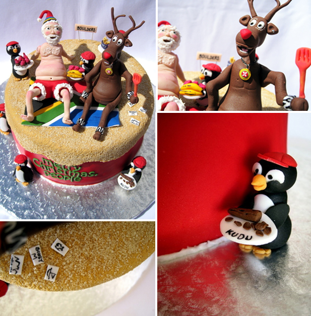Chef Sam's winning festive cake