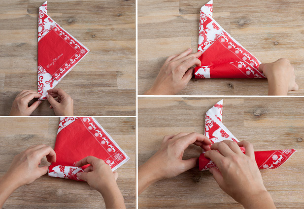 How to Fold an Elf Shoe, a Boot, or a Slipper - Napkin Folding ...   426x617