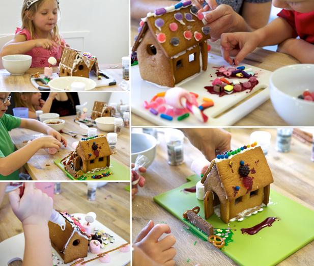 making mini gingerbread houses
