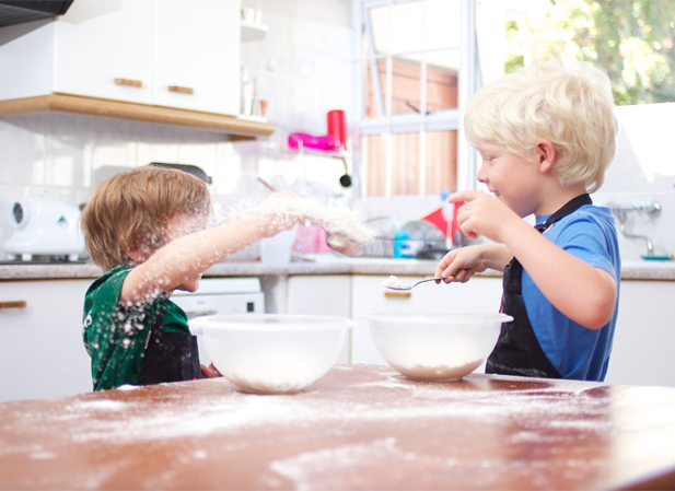 Fun with kids in the kitchen