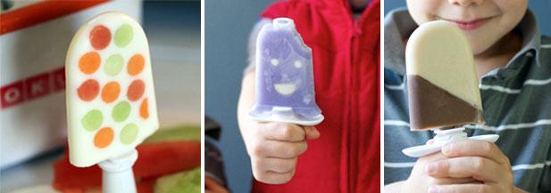 kids making zoku ice lollies