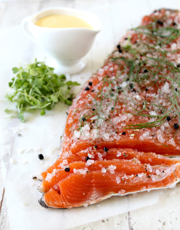 NoMU inspired cured trout recipe