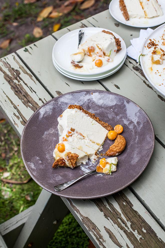 no-bake-ice-cream-cheesecake-served