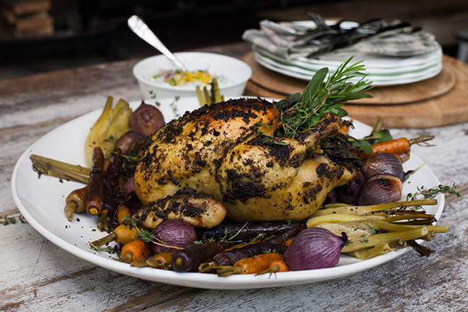 The Easiest Of Christmas Mains Scarborough Fair Chicken