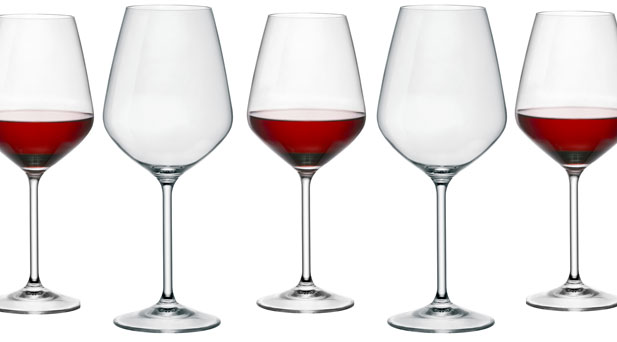 Rocco Crystal Magnesium Cabernet 4 Glasses by Bormioli