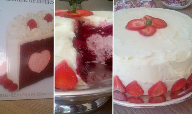 Jani's heart filled Wilton cake