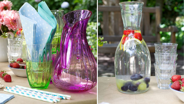 frozen fruits in water for kids picnic