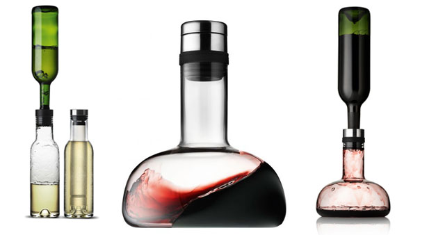 Decanters for red and white wine by Menu