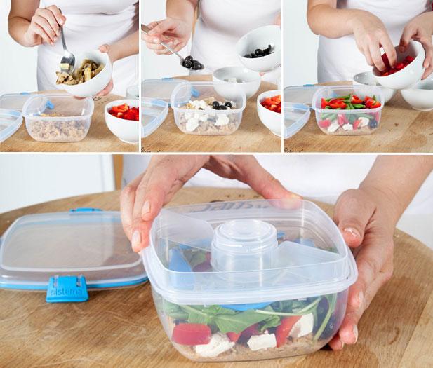 Salad mix added to quinoa